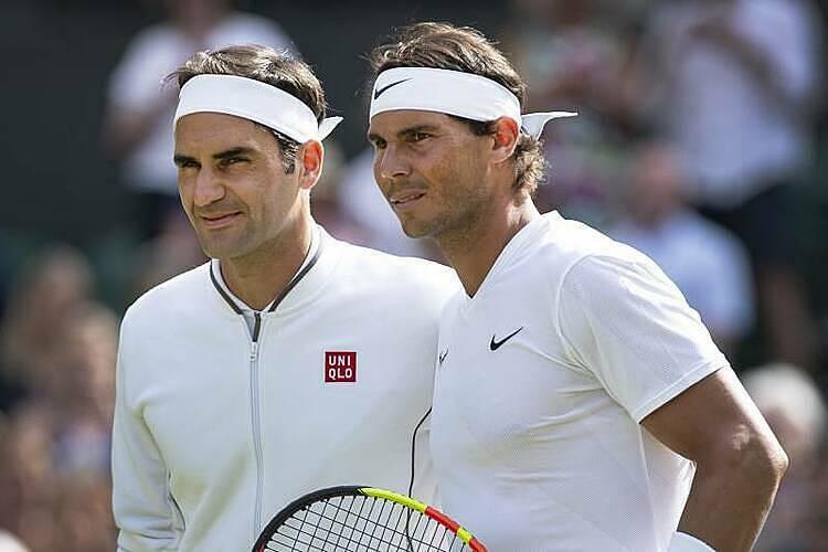 Federer và Nadal ở trận bán kết Wimbledon năm ngoái. Ảnh: ESPN.