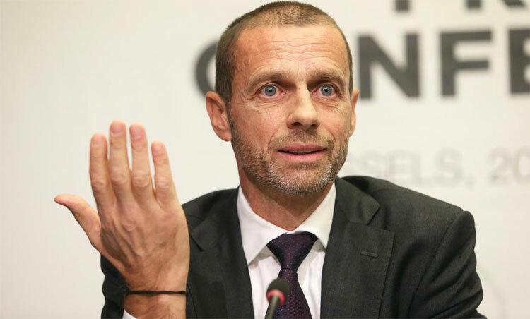 Chủ tịch Ceferin vẫn muốn các giải kết thúc trọn vẹn trong mùa dịch. Ảnh: Reuters.