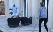 Nadal luyện tập cùng em gái