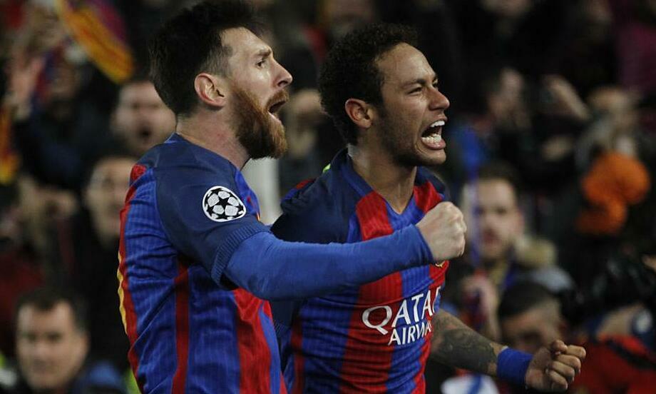 Neymar (phải) có thể trở về Barca. Ảnh: MD.