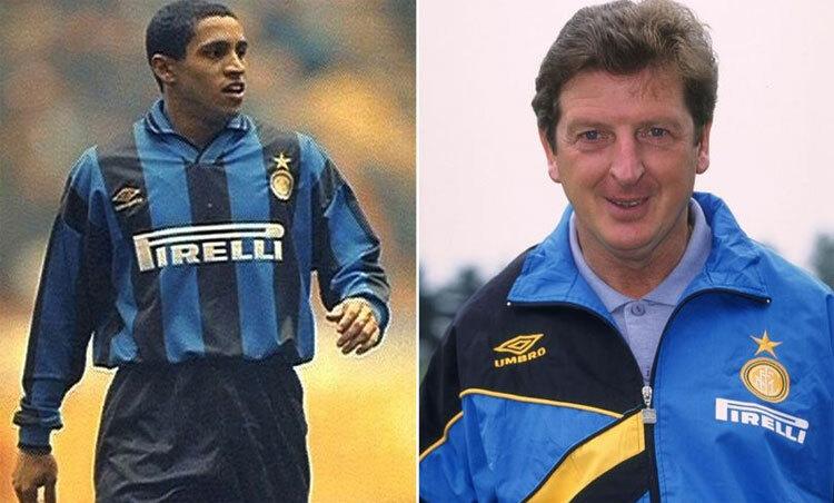 Carlos khi còn chơi cho Inter và làm việc với HLV Hodgson. Ảnh: Reuters.