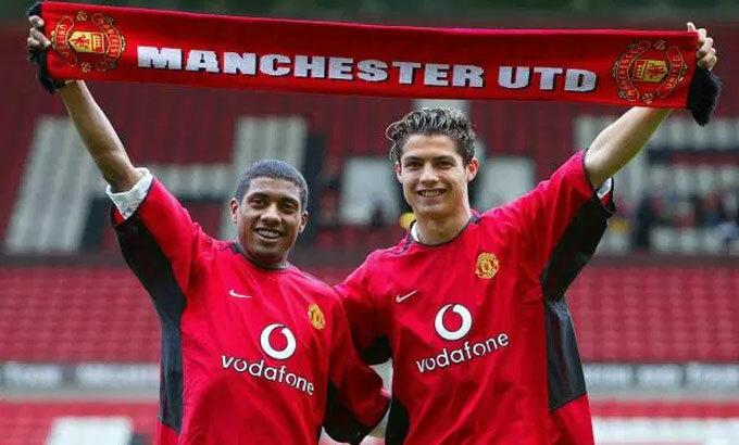 Ronaldo thời mới đầu quân cho Man Utd. Ảnh:PA.