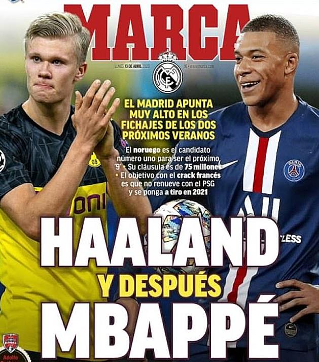 Trang bìa Marca hôm 13/4.