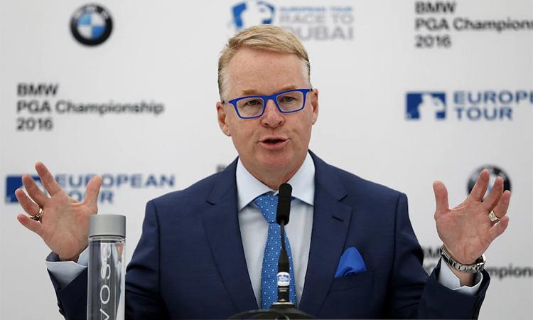 CEO Pelly muốn các thành viên chia sẻ khó khăn với European Tour vì ảnh hưởng của đại dịch. Ảnh: PA.