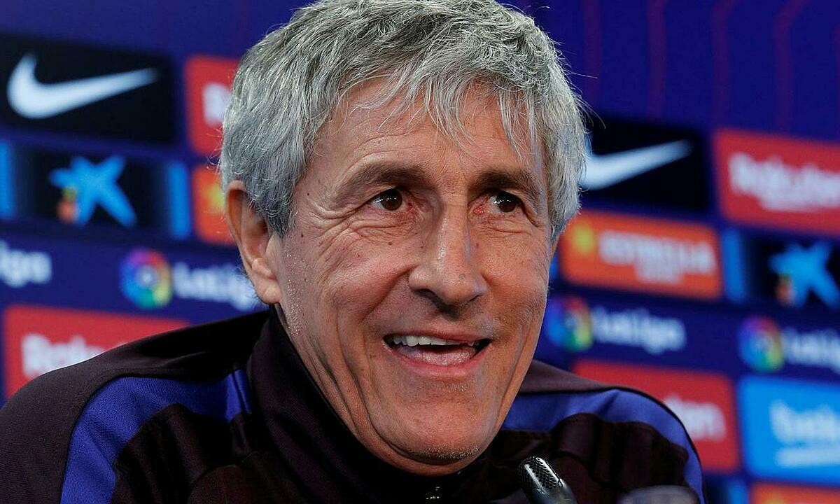 Setien muốn đoạt cú đúp cùng Barca. Ảnh: Reuters.