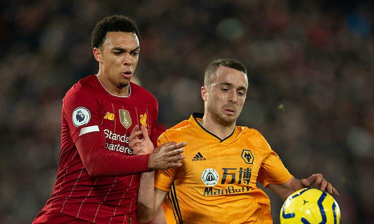 Jota cho rằng Liverpool xứng đáng được trao Cup vô địch Ngoại hạng Anh 2019-2020 nếu bị mùa giải không trở lại. Ảnh: Reuters.