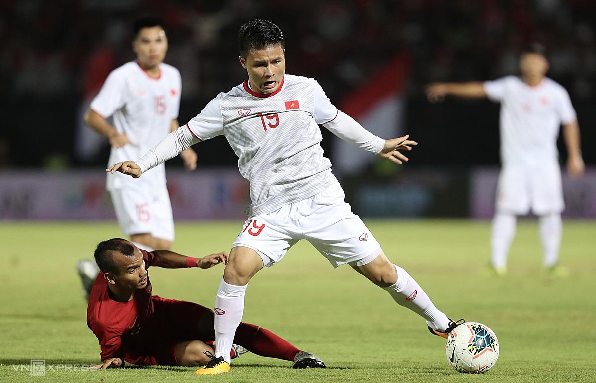 Việt Nam thắng Indonesia 3-1 ở lượt đi nhưng trận lượt về dự kiến diễn ra ngày 4/6 đã bị hoãn vì Covid-19. Ảnh: Đức Đồng.