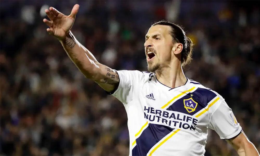 Ibrahimovic đá 58 trận, ghi 54 bàn trong gần hai năm khoác áo LA Galaxy. Ảnh: AP.