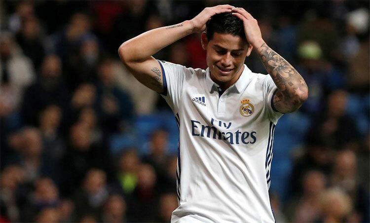 James Rodriguez nhiều khả năng rời Real trong kỳ chuyển nhượng tới. Ảnh: Reuters.