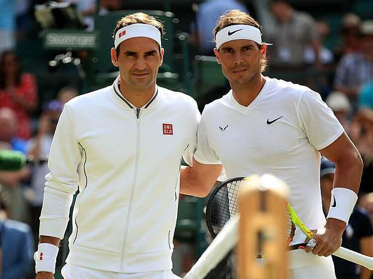 Federer (trái) và Nadal muốn tennis nam và nữ có chung hệ thống. Ảnh :ES.