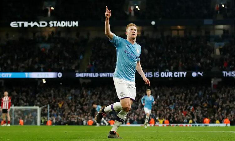 Thủ lĩnh hàng tiền vệ Man City là một chuyên gia kiến tạo. Ảnh: Reuters.