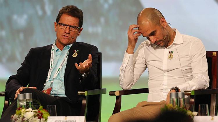 Capello nhận thấy tài năng của một HLV kiệt xuất ở Guardiola từ khi làm việc cùng tại Roma. Ảnh: AFP.