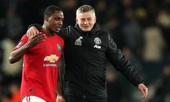 Ighalo (trái) giúp Man Utd giải quyết vấn đề thiếu hụt hàng công. Ảnh: Empics.