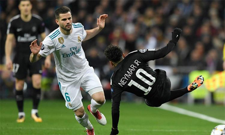 PSG thường vấp ngã khi gặp các đối thủ lớn ở vòng knock-out Champions League ba mùa gần nhất. Ảnh: AFP.
