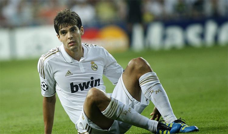 Real Madrid là dấu lặng buồn trong sự nghiệp đỉnh cao của Kaka. Ảnh: AP.