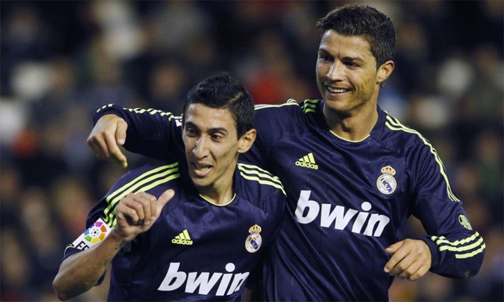 Di Maria mang đến nhiều kỷ niệm cho CĐV bóng đá Bồ Đào Nha trước khi về Real Madrid với Ronado. Ảnh: Reuters.