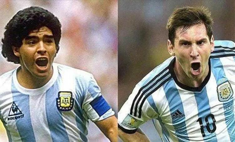 Theo Wenger, Messi chưa thể sánh với Maradona. Ảnh: Reuters.