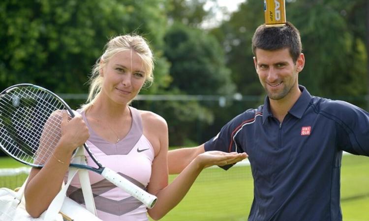 Sharapova và Djokovic quen biết nhau từ thời còn trẻ. Ảnh: AFP.