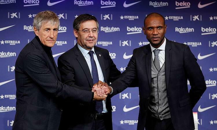 Setien được bổ nhiệm trong lúc Barca đang vướng vào khủng hoảng nội bộ. Ảnh: Reuters.