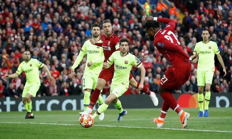 Cơn ác mộng tại Anfield để lại hậu quả tâm lý cho các cầu thủ Barca. Ảnh: Reuters.
