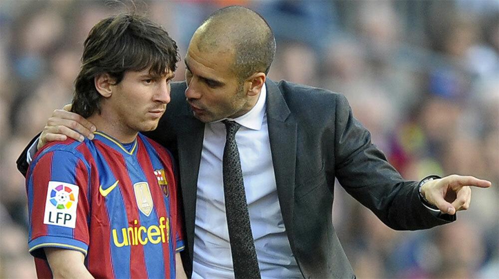 Messi thăng tiến ngoạn mục dưới sự dìu dắt của Guardiola ở Barca.