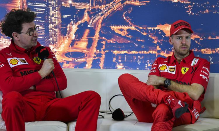 Binotto nói rằng Vettel không còn chia sẻ mục tiêu chung với Ferrari sau Covid-19. Ảnh: Motorsport.