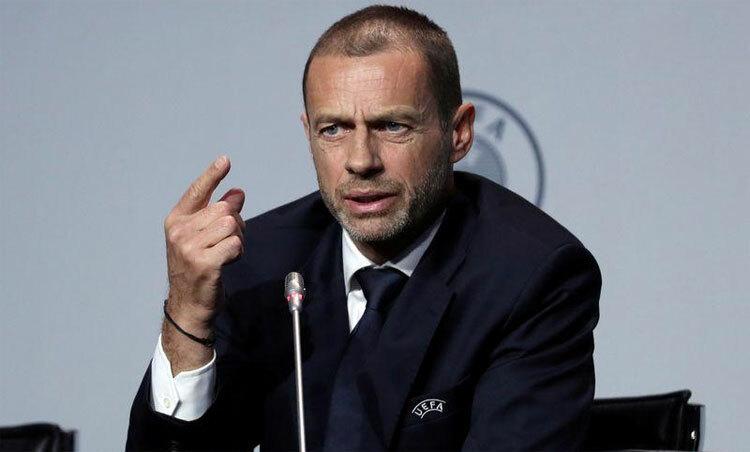 Ceferin không kéo dài mùa giải sang tháng 9 để chờ đại diện bóng đáPháp. Ảnh: Reuters.
