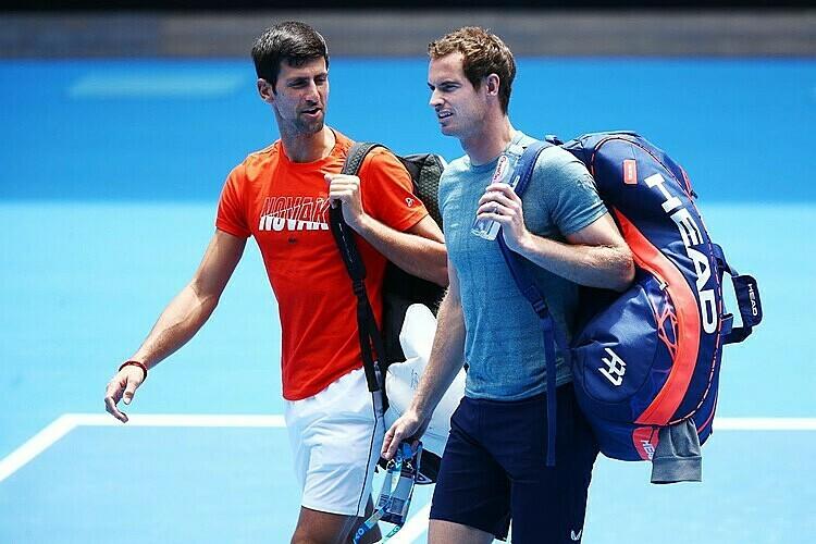 Djokovic (trái) từng thua Murray ở hai trận chung kết Grand Slam. Ảnh: AP.
