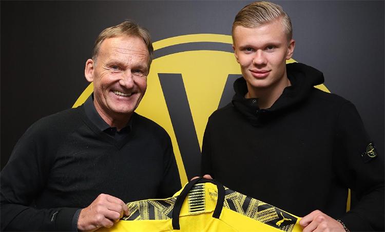 Dortmund vớ bở khi chỉ tốn 22 triệu USD mua Haaland. Ảnh: DHA.