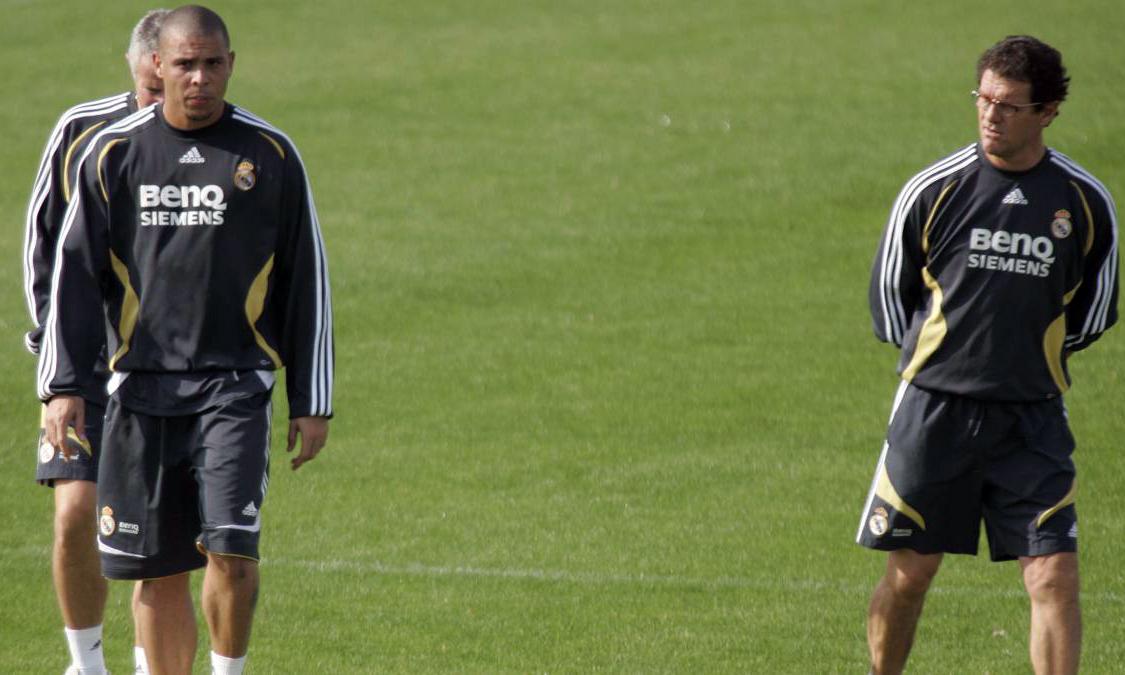 Capello (phải) có nửa năm làm việc chung cùng Ronaldo. Ảnh: Diario AS.