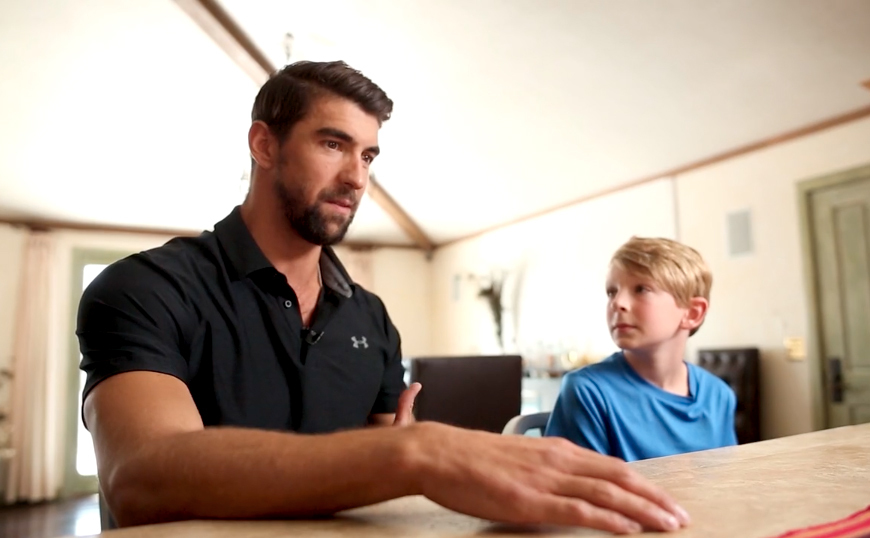 Phelps từng chịu chứng trầm cảm thời còn thi đấu đỉnh cao. Ảnh: People.