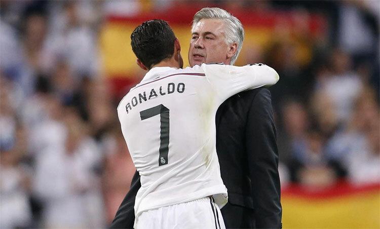 Ancelotti biết cách khơi dậy tiềm năng của Ronaldo và nhiều cầu thủ khác. Ảnh: Reuters.