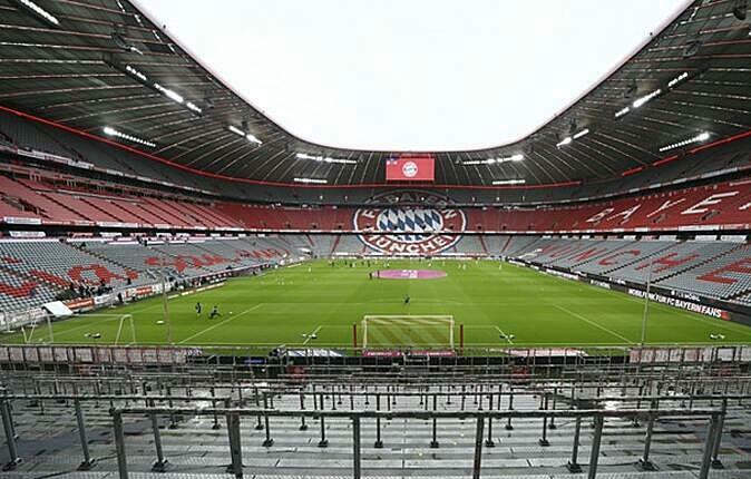 Sân Allianz lần đầu không được đón khán giả sau nhiều năm. Ảnh: AP.