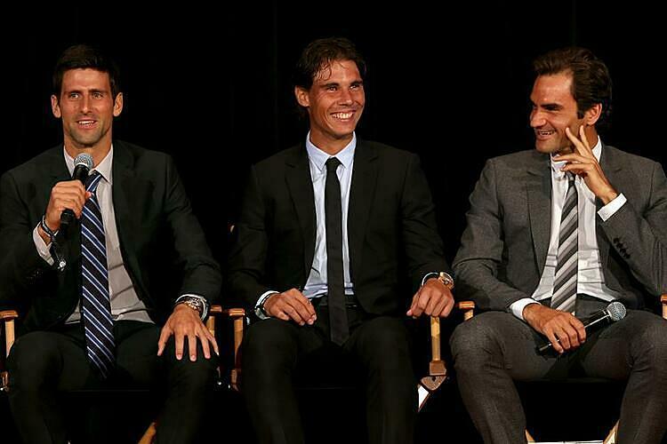 Djokovic (trái) xác nhận vẫn có quan hệ tốt với Nadal và Federer. Ảnh: AP.