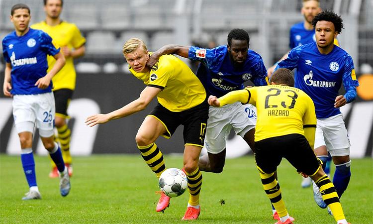 Haaland mang lại sự sắc sảo và sức mạnh mà Dortmund còn thiếu trên hàng công, so với giai đoạn đầu mùa. Ảnh: Reuters.