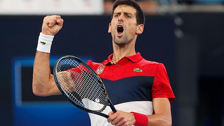Djokovic toàn thắng 21 trận trước khi tennis tạm ngưng vì đại dịch. Ảnh: AP.