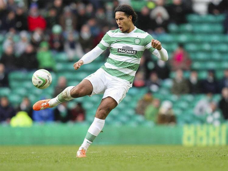 Van Dijk thời khoác áo Celtic. Ảnh: Reuters.