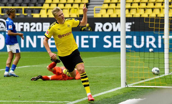 Haaland có thể là một cỗ máy ghi bàn tại Ngoại hạng Anh trong tương lai. Ảnh: Reuters.