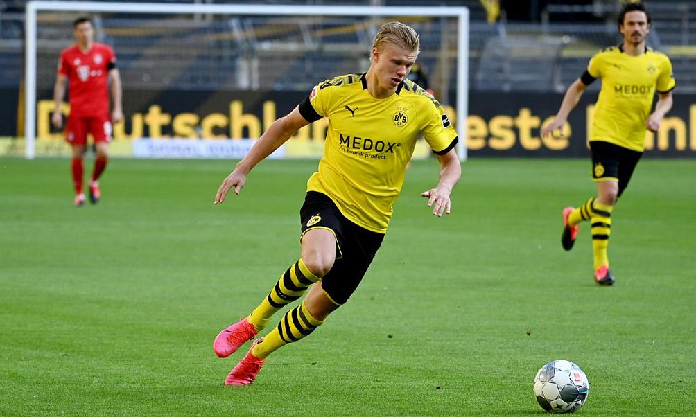 Haaland lần đầu phải vắng một trận, kể từ khi sang Dortmund. Ảnh: Reuters.
