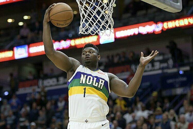 Zion Williamson là tân binh sáng giá của NBA mùa này. Ảnh: AP.