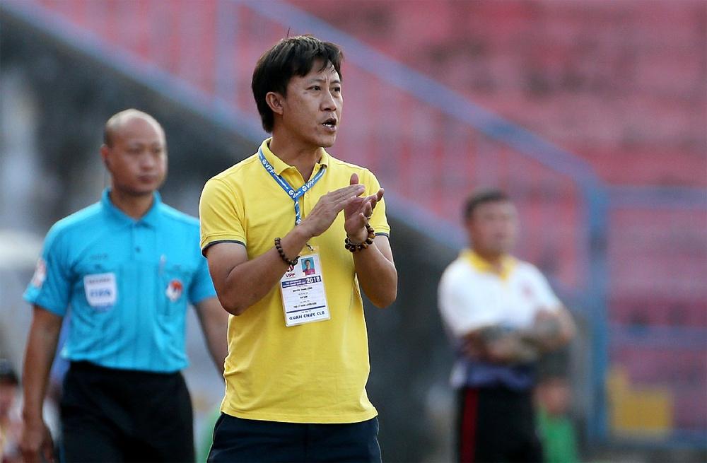 HLV Nguyễn Thành Công được kỳ vọng sẽ giúp Thanh Hoá tránh cảnh phải xuống hạng vào cuối mùa. Ảnh: BTH
