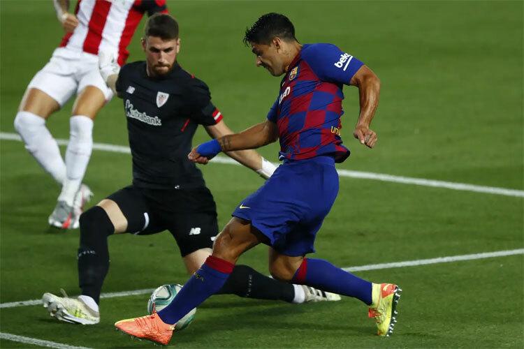 Hàng thủ Bilbao chứng tỏ được chất lượng hàng đầu. Ảnh: AP.
