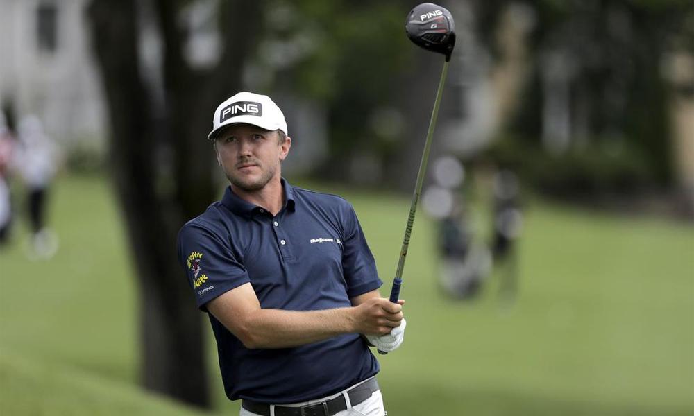 Hughes có vòng đấu tốt nhất sự nghiệp ở PGA Tour trên sân TPCRiver Highlands hôm 25/6. Ảnh: Canadian Press.