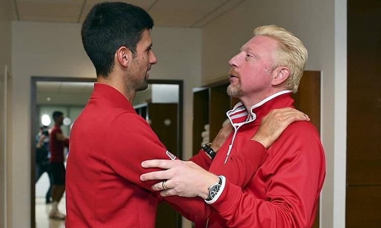 Becker cho rằng những chỉ trích hướng về Djokovic đang đi quá xa. Ảnh: Reuters.