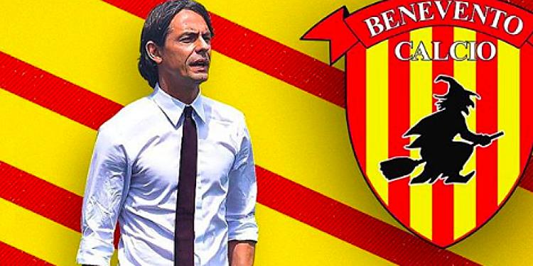 HLV Inzaghi giúp Benevento tạo nên kỳ tích. Ảnh: Piuenne.