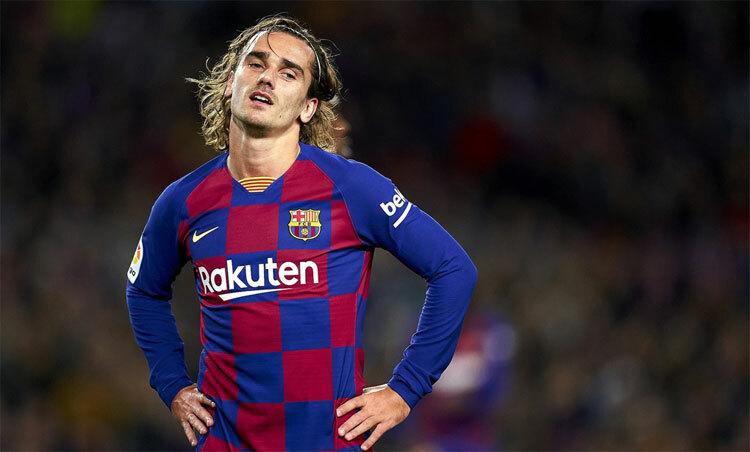 Griezmann nguy cơ chia tay Barca thời gian tới. Ảnh: Reuters.