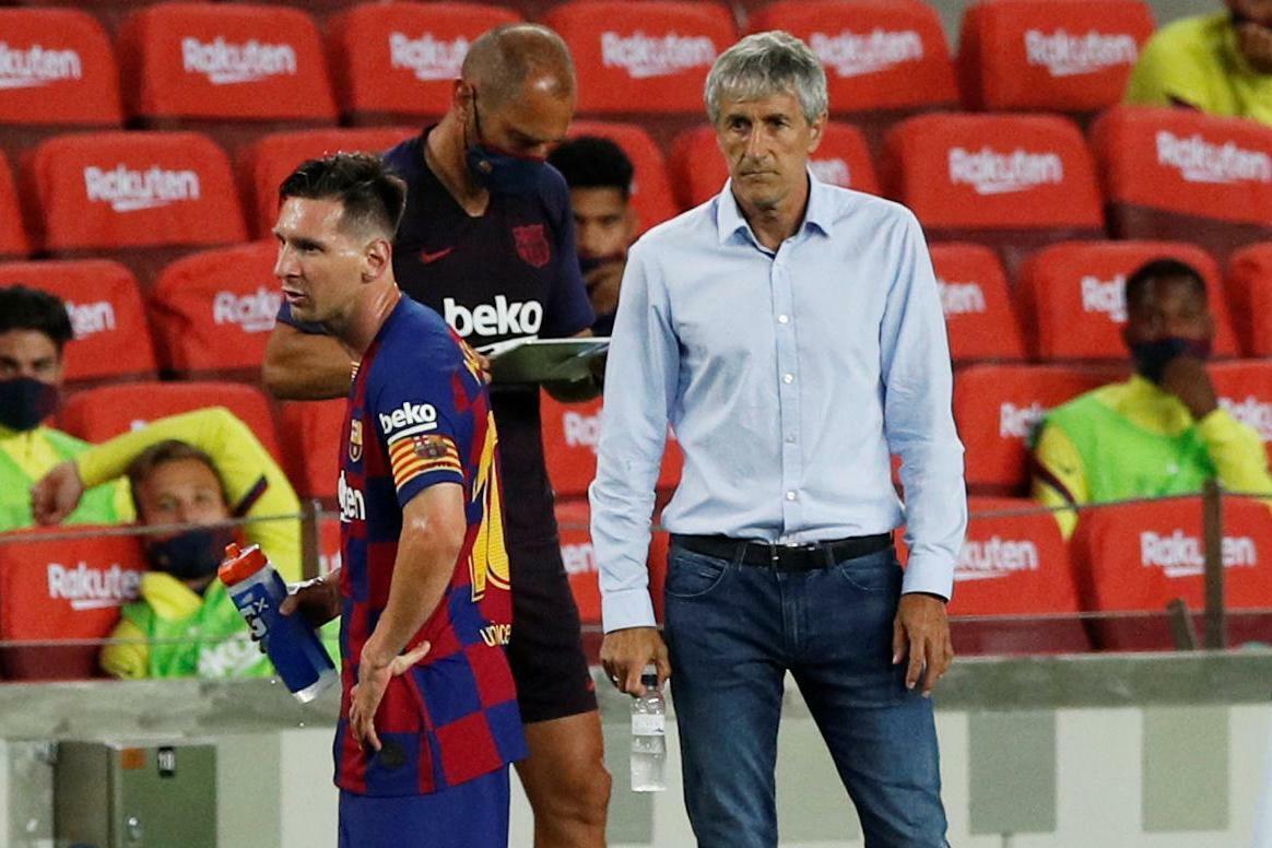 Messi ghi bàn thứ 700 nhưng không thể mang về thắng lợi cho HLV Setien. Ảnh: MC.
