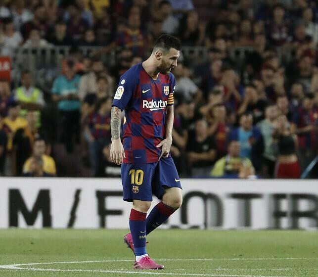 Messi không còn muốn gắn bó với Barca. Ảnh: AP.