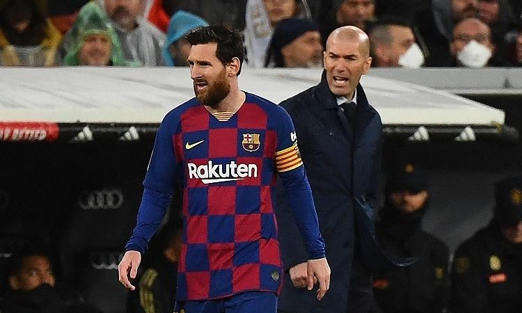 Zidane muốn một cầu thủ giỏi như Messi ở lại La Liga. Ảnh: AP.