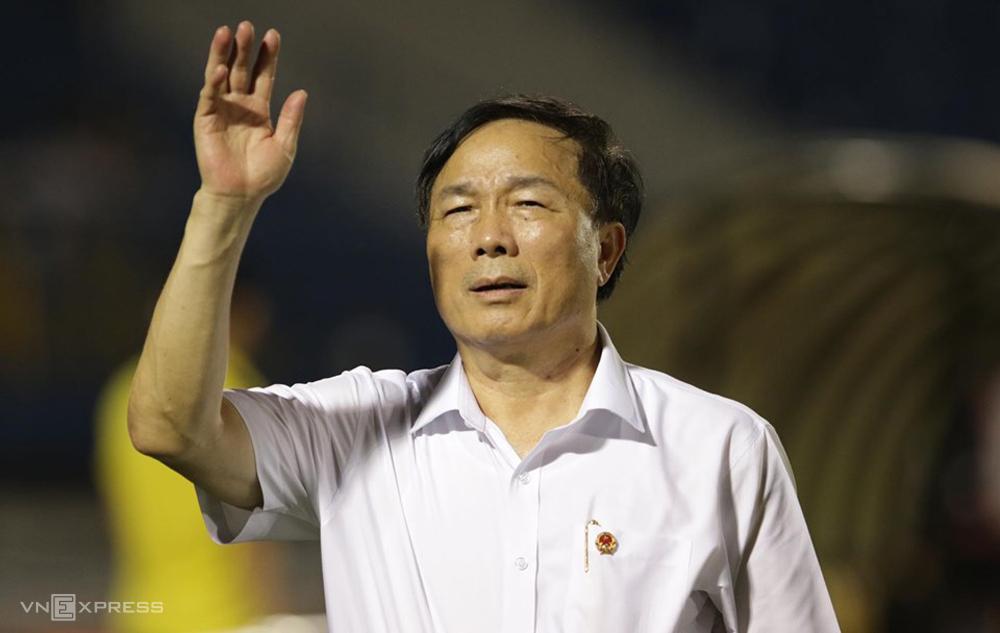 Bầu Đệ trở lại tiếp quản CLB Thanh Hóa từ năm 2018, sau khi Tập đoàn FLC ra đi. Ảnh: Đức Đồng.